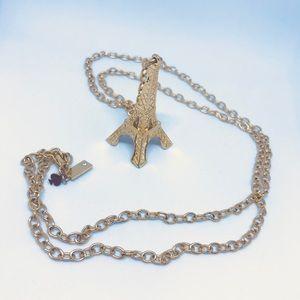 Kate Spade Paris Gold Eiffel Tower Chain Necklace